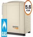 GENERADOR GENERAC HSB-5.6 KVA A GAS 220 VOLTS